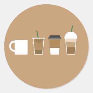 O café diferente datilografa a café do amor o adesivo
