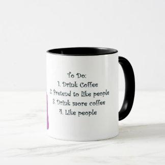 O café do bebendo faz-me como pessoas da caneca