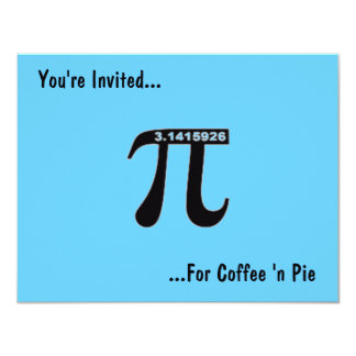 O café do dia do Pi & o ~ do convite do Pi