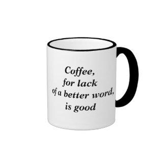 O café é bom caneca com contorno
