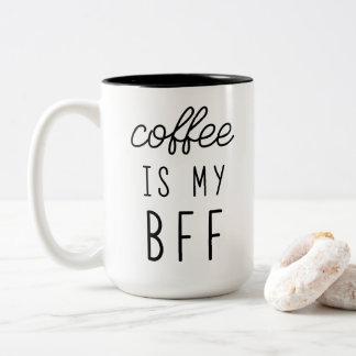O café é minha caneca de BFF 15oz