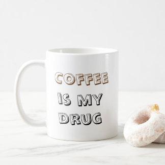 O café é minha droga - caneca 325ml