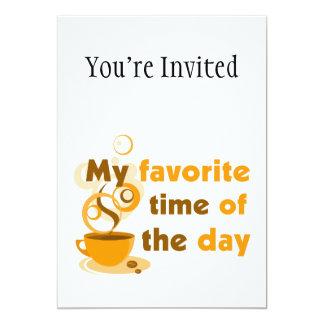 O café é minha hora favorita do dia convite 12.7 x 17.78cm