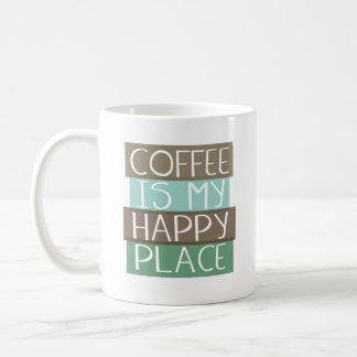 O café é minha ideia feliz do presente da caneca