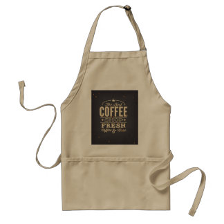 O café fresco da melhor cafetaria e mais avental