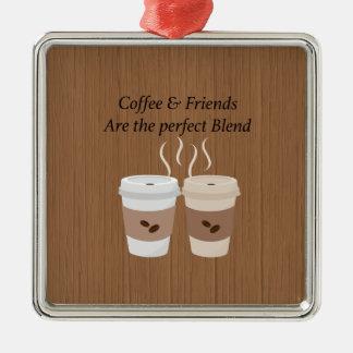 O café & os amigos são o ornamento perfeito da