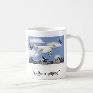 O CAFÉ UPLIFTING! Caneca da arte de Pegasus
