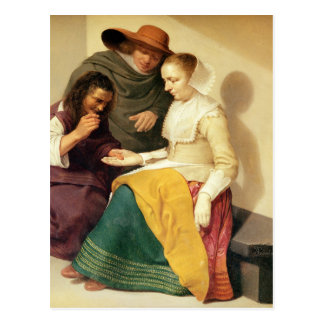 O caixa de fortuna, 1631 cartão postal