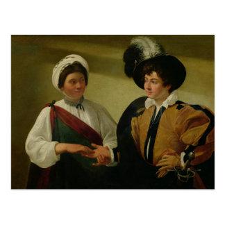 O caixa de fortuna, c.1596-97 cartão postal