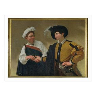 O caixa de fortuna (La Buona Ventura), c.1594 Cartão Postal