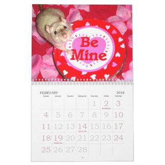 O calendário do amante do rato: 2018