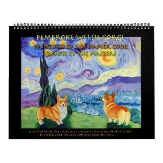 O calendário do Corgi de Galês do Pembroke domina