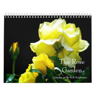 O calendário do jardim de rosas calendário