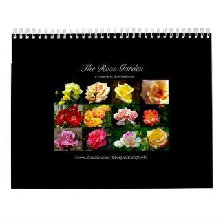 O calendário do jardim de rosas