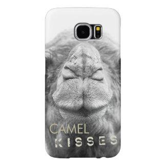O camelo beija a caixa da foto do close up capa para samsung galaxy s6