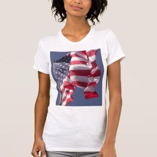 O cami das mulheres da BANDEIRA dos EUA Camisetas