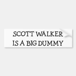 O caminhante de Scott é um manequim grande Adesivo Para Carro