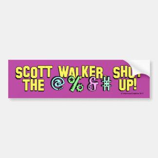 O caminhante de Scott, fechou o @%&# acima! Adesivo Para Carro
