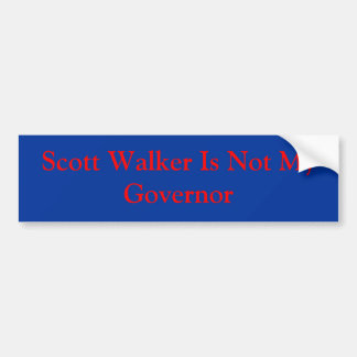 O caminhante de Scott não é meu governador Adesivo