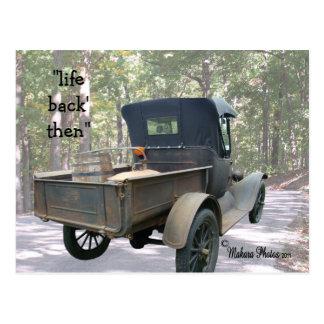 o caminhão antigo & ainda cartão personaliza