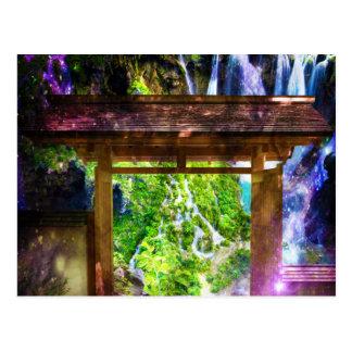 O caminho do universo do arco-íris ao paraíso cartão postal