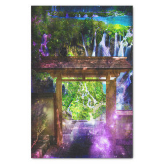 O caminho do universo do arco-íris ao paraíso papel de seda