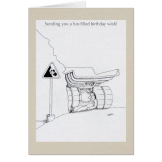 O camionista do feliz aniversario carda desenhos a cartão comemorativo
