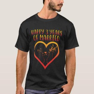 Ó camisa feliz do aniversário para o casal