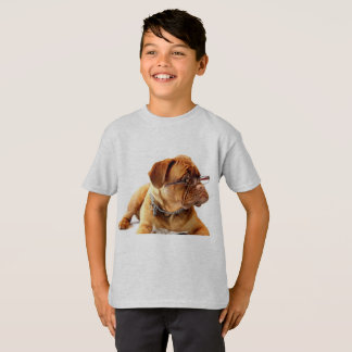O camiseta do miúdo do cão