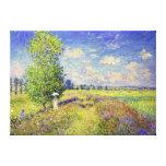 O campo da papoila do verão, por Claude Monet Impressão De Canvas Esticada