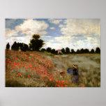 O campo da papoila perto de Argenteuil por Claude  Pôsteres