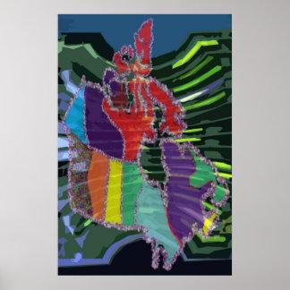 O CANADÁ - Mapigraph artístico