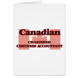 O canadense fretou o contador certificado cartão comemorativo
