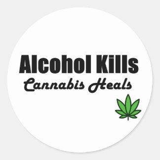O cannabis dos matares do álcool cura etiquetas