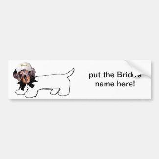 O cão autógrafo da noiva adesivo para carro