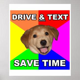 O cão do conselho diz: Movimentação & texto Poster