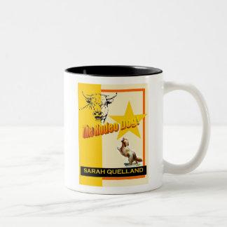 O cão do rodeio caneca dois tons