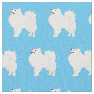 O cão Eskimo americano telhou o tecido