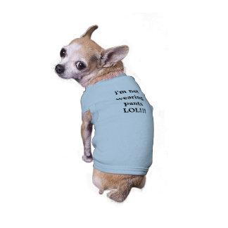 o cão graceja camiseta de cão
