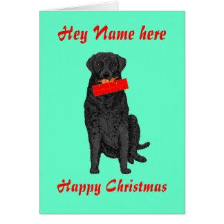 O cão que guardara o presente de Natal adiciona a Cartão Comemorativo