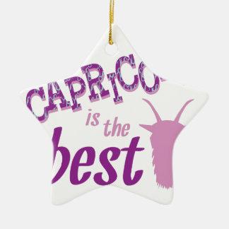 O Capricórnio é o melhor Ornamento De Cerâmica Estrela