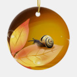 O caracol curioso ornamentos para arvore de natal