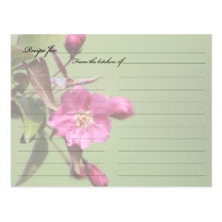 O caranguejo Apple do cartão da receita floresce