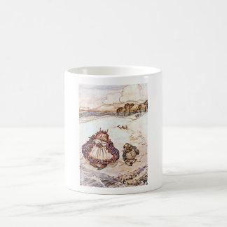 O caranguejo e sua caneca dos miúdos da mãe