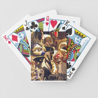 O carnaval mascara cartões cartas de baralho