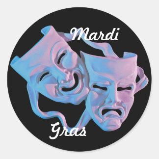 O carnaval mascara em volta da etiqueta adesivo