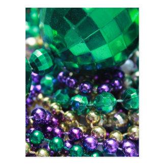 O carnaval perla convites verdes do cartão cartão postal