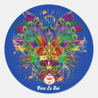 O carnaval sobre 30 cores satisfaz vê notas adesivo em formato redondo