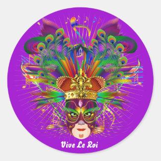 O carnaval sobre 30 cores satisfaz vê notas adesivos redondos