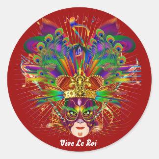 O carnaval sobre 30 cores satisfaz vê notas adesivo redondo